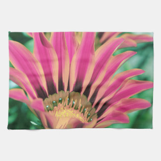 Hot Pink Daisy Petals Tea Towel