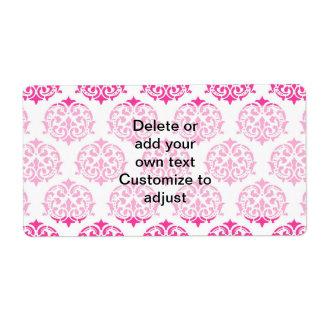 Hot pink damask