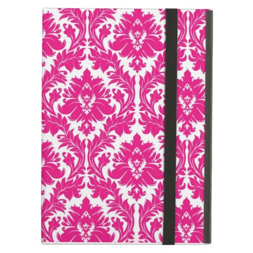Hot Pink Damask iPad Folio Case