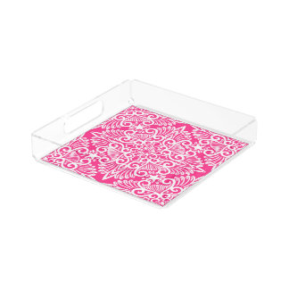 Hot pink Dream root Acrylic Tray