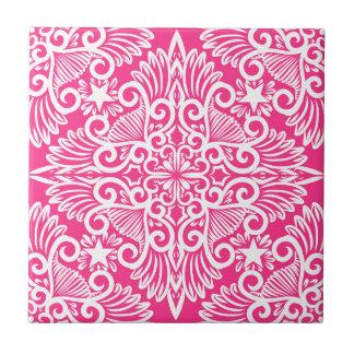 Hot pink Dream root Ceramic Tile
