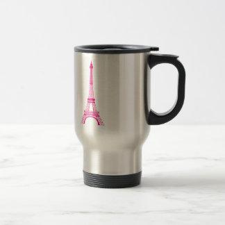 Hot Pink Eiffel Tower Coffee Mug