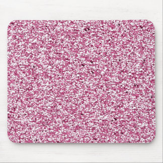 Hot Pink  Faux Glitter Girly Bling Mouse Pad