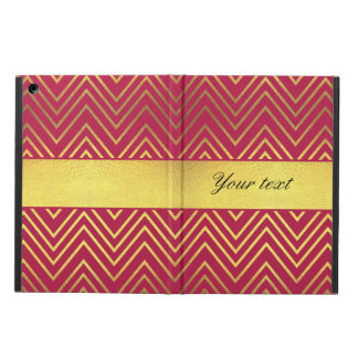 Hot Pink Faux Gold Foil Chevrons Case For iPad Air