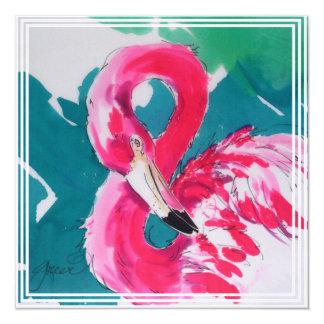 Hot Pink Flamingo Card