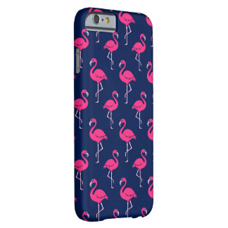 Hot Pink Flamingo Pattern Barely There iPhone 6 Case