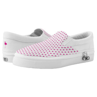 Hot Pink Flamingo Pattern Slip On Shoes