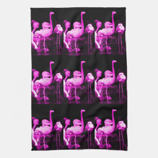 Hot Pink Flamingo Tea Towel