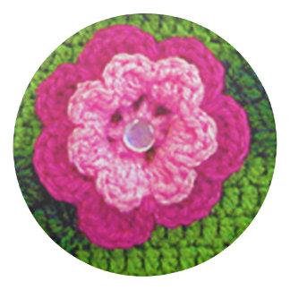 Hot Pink Flower Reversible Views Crochet Print on Eraser