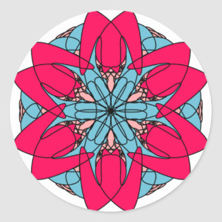Hot Pink Flower Sticker