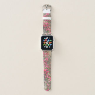 Hot Pink Flowers Apple Watch Band