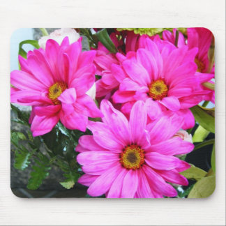 Hot Pink Flowers Mouse Pad