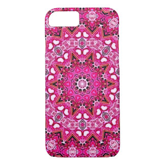 Hot Pink Fractal iPhone 7 Case