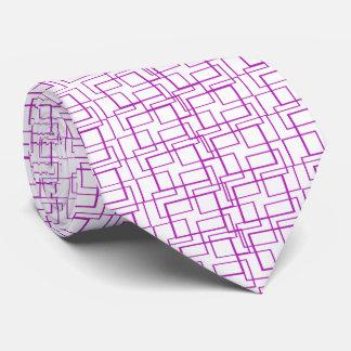 Hot Pink Frames II Geometric White Tie