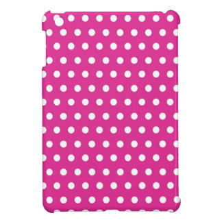 Hot Pink Fuchsia and White Polka Dots Pattern Gift Cover For The iPad Mini