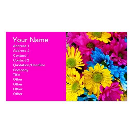 Hot Pink Fuchsia Gerber Daisies Business Cards