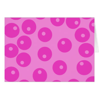 Hot Pink Funky Retro Pattern. Note Card