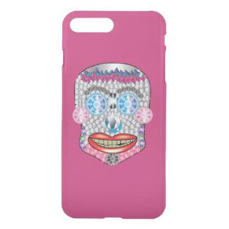 Hot Pink Gemma Candy Skull Iphone Case