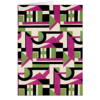 Hot Pink Geo Deco Card