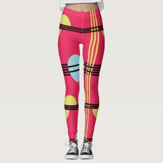 Hot Pink Geometric Leggings