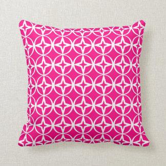 Hot Pink Geometric Pattern Cushion