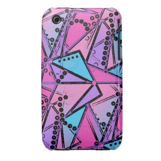 Hot Pink geometry ART case Case-Mate iPhone 3 Case