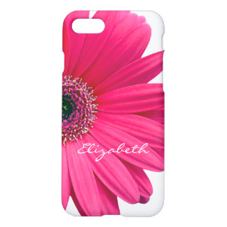 Hot Pink Gerber Gerbera Daisy Personalized iPhone 8/7 Case