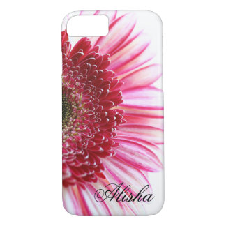 Hot pink Gerbera Daisy flower iPhone 8/7 Case