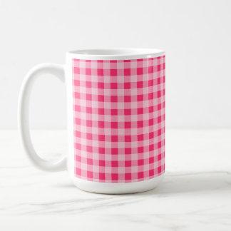 Hot Pink Gingham Coffee Mug