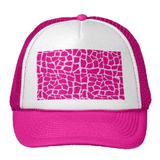 Hot pink giraffe pattern hats