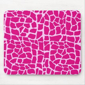 Hot pink giraffe pattern mouse pad