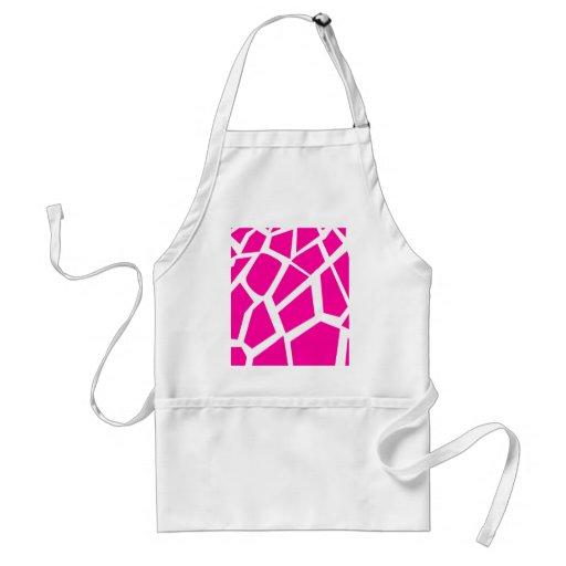 Hot Pink Giraffe Pattern Wild Animal Prints Apron