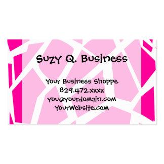 Hot Pink Giraffe Pattern Wild Animal Prints Business Card