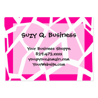 Hot Pink Giraffe Pattern Wild Animal Prints Pack Of Chubby Business Cards