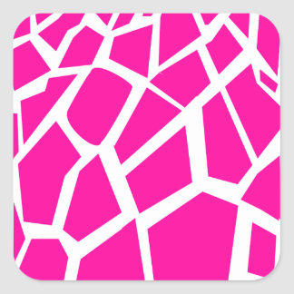 Hot Pink Giraffe Pattern Wild Animal Prints Stickers