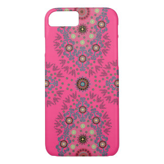 Hot Pink Girly Floral iPhone 7 Case