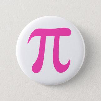 Hot pink girly pi symbol pinback button