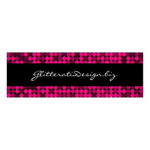 Hot Pink Glam Skinny Bizcard Business Card Templates