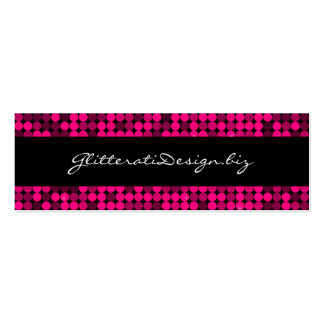 Hot Pink Glam Skinny Bizcard Pack Of Skinny Business Cards