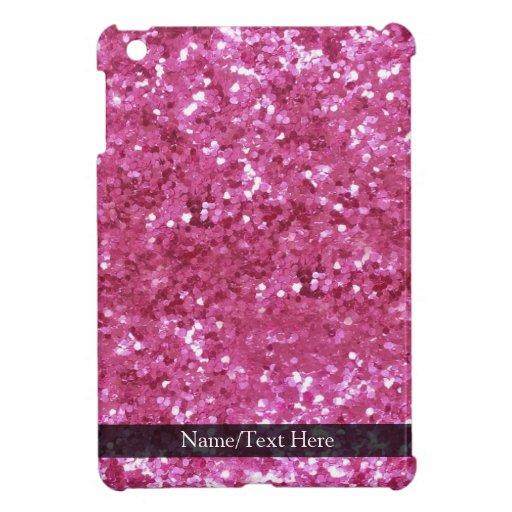 Hot Pink Glitter Look iPad Mini Case