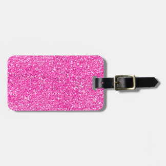 Hot Pink Glitter Luggage Tag