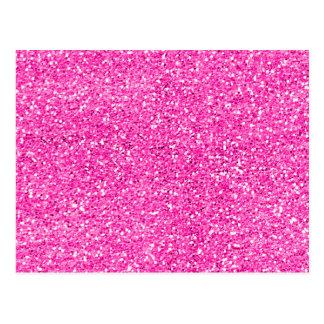 Hot Pink Glitter Postcard