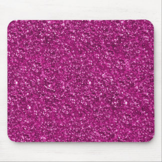 Hot Pink Glitter Print Mouse Pad