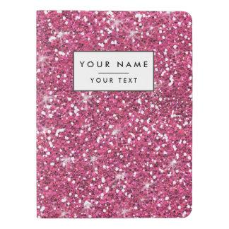 Hot Pink Glitter Printed Extra Large Moleskine Notebook