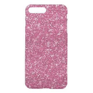 Hot Pink Glitter Printed iPhone 8 Plus/7 Plus Case