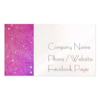 Hot Pink Glitter - Shiny, Sparkles Pack Of Standard Business Cards