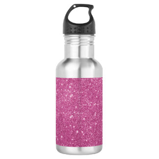 Hot Pink Glitter Sparkles 532 Ml Water Bottle