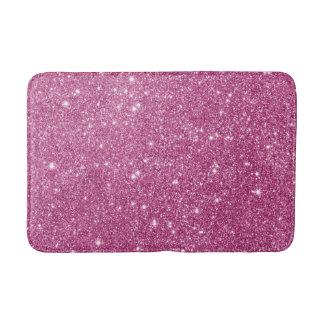 Hot Pink Glitter Sparkles Bath Mat