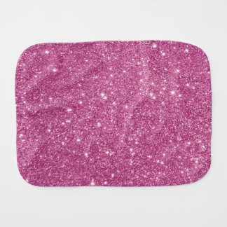 Hot Pink Glitter Sparkles Burp Cloth