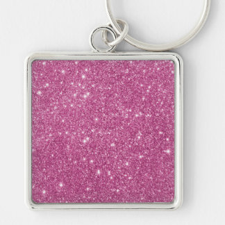 Hot Pink Glitter Sparkles Key Ring
